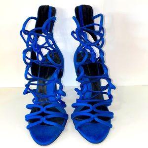 COPY - Zara Royal Blue Strappy Heels SZ 38EU/7.5US